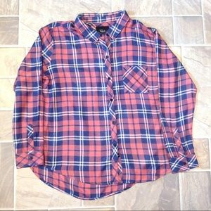 RAILS HUNTER PLAID  SHIRT RUST INDIGO WHITE RAYON